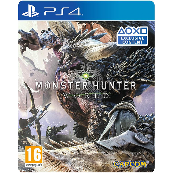 Monster Hunter World Steelbook Edition cho máy PS4