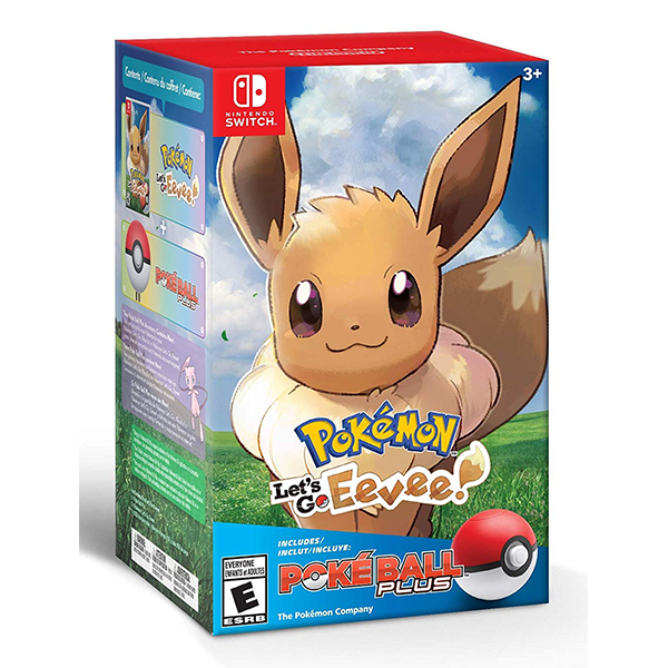 Pokemon Let's Go, Eevee! + Poke Ball Plus Pack