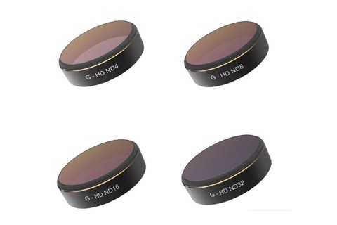 pgytech nd filters for dji phantom 4 pro+ nd4/8/16/32/64 4pcs nd set