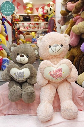 Gấu bông Teddy- Tim I Love You 1m4
