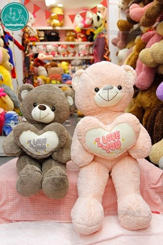Gấu bông Teddy- Tim I Love You