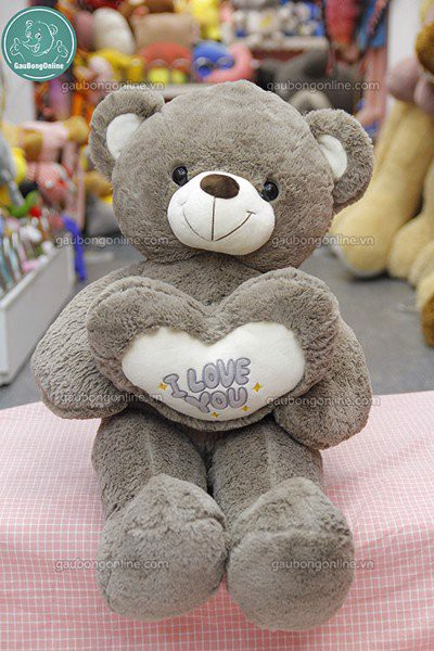 Gấu bông Teddy- Tim I Love You 1m2