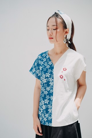 JAPAN INDIGO SAKURA TOP