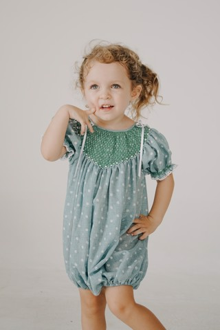 MINT CLOUDY SM ROMPER