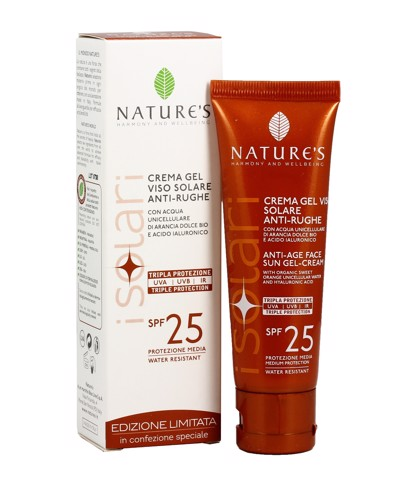 NATURE'S SOLARE CREMA ANTIAGE FACE &LIPS SPF 25