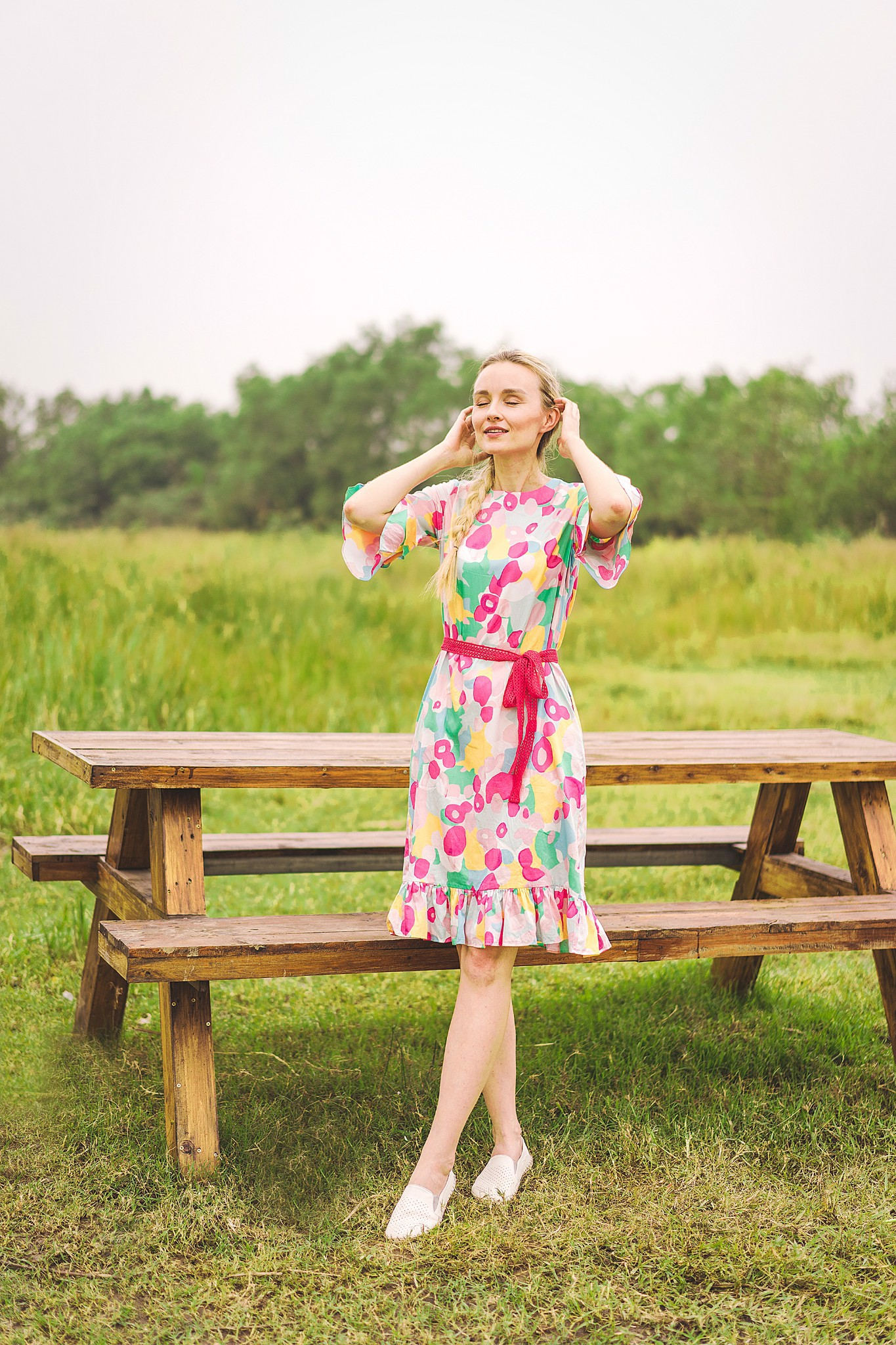 FLOWER RAINBOW MM DRESS