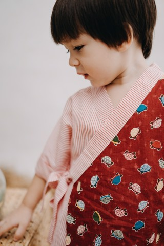 KAME RED JAPAN YUKATA