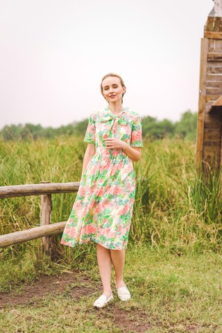 FLOWER VATICA DRESS