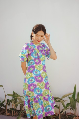 SEA MARGUE FLOWER MM DRESS