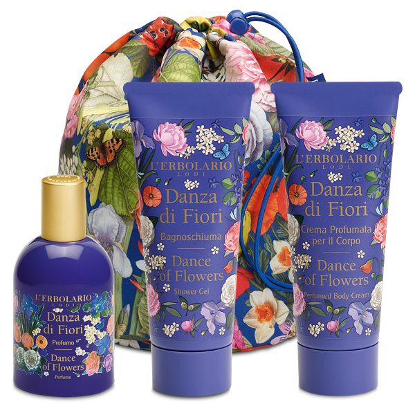 L' ERBOLARIO BEAUTY BAG - TRIO DANZA DI FIORI