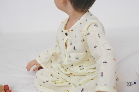 SUPER YELLOW COLOR CAR PAJAMAS