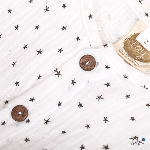 STAR WHITE PAJAMAS