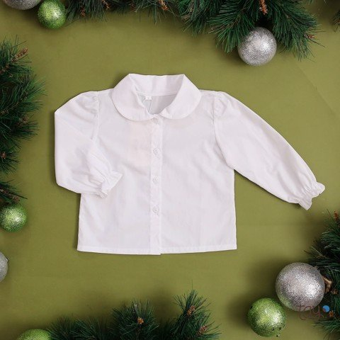 CHERRY XMAS NECK BLOUSE