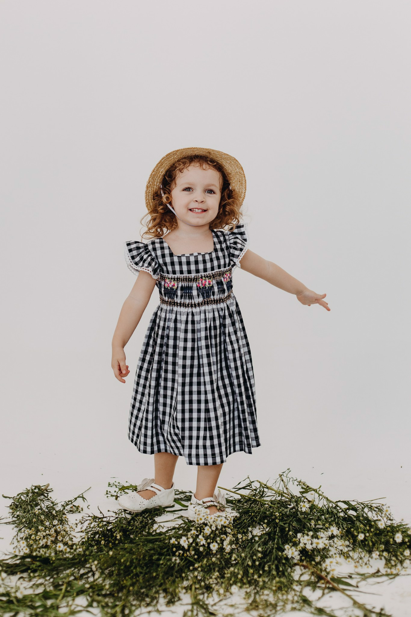 STRIPE PLAID SM DRESS