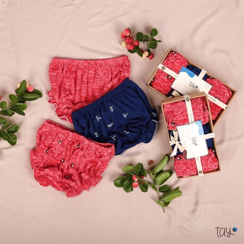 BLOOMER SET ROSA RED BLUE