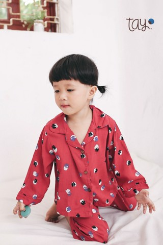 FLOWER RED PYJAMAS