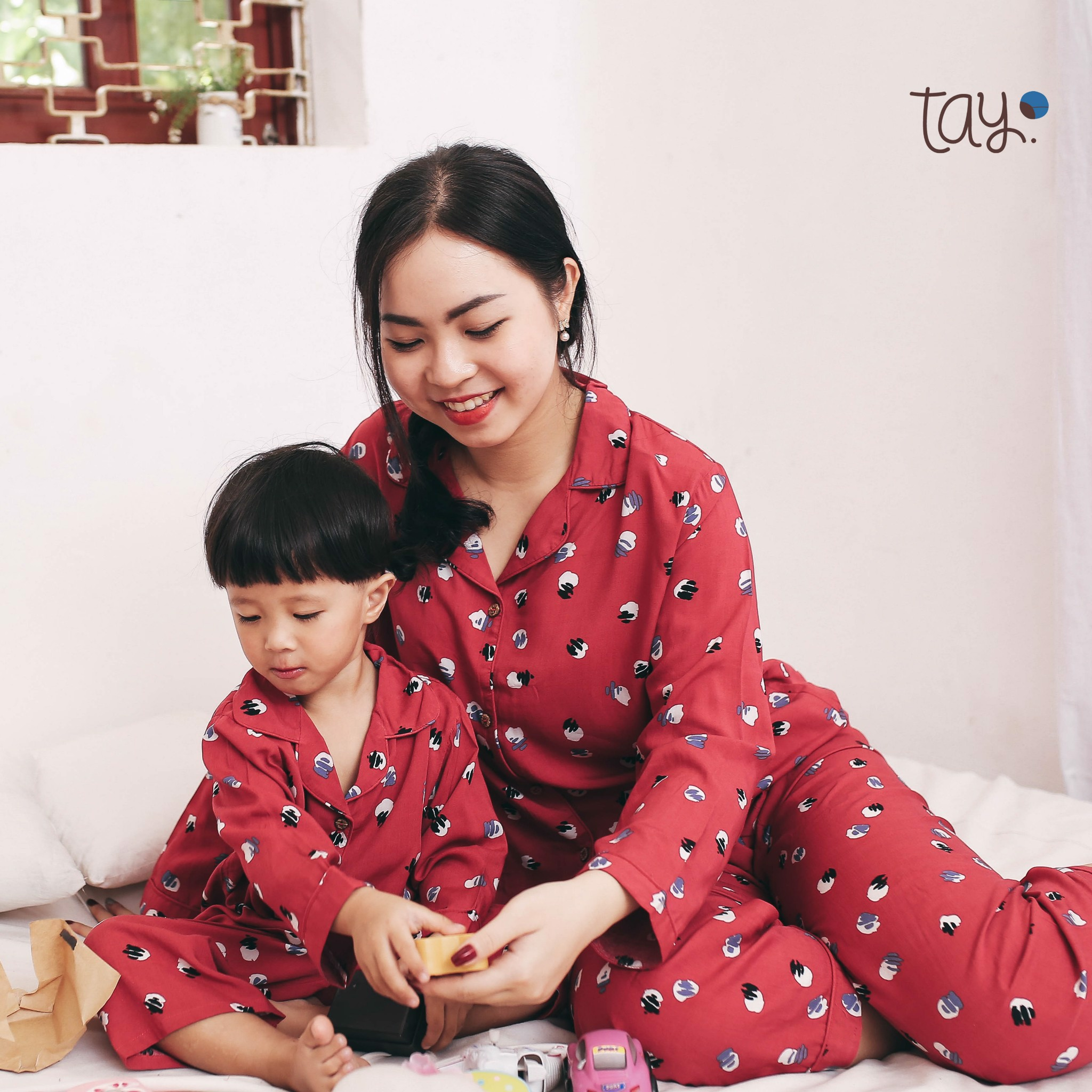 FLOWER RED MM PYJAMAS