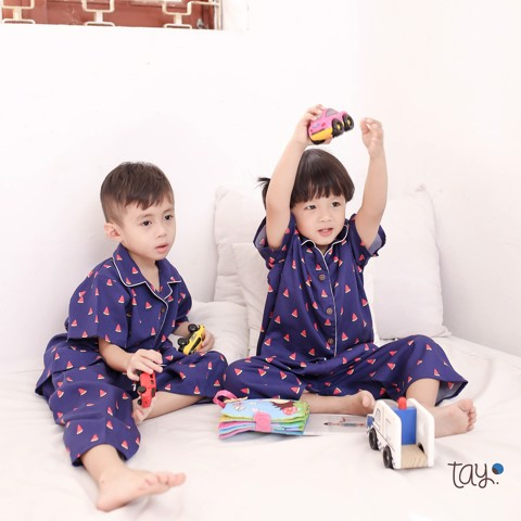 BLUE WATERMELON PYJAMAS