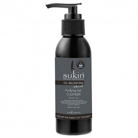 SUKIN OIL BALANCING + CHARCOAL PURIFYING GEL CLEANSER