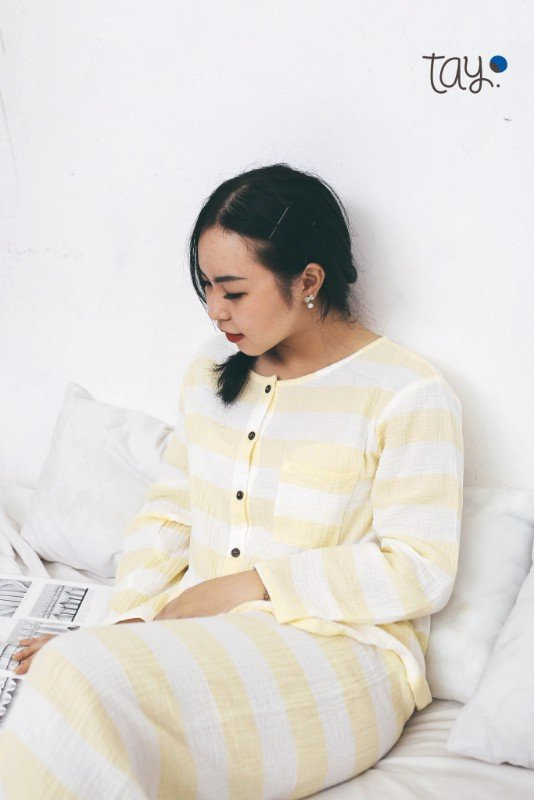 FRESH YELLOW LINE mm PAJAMAS