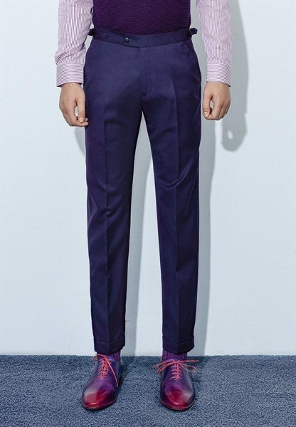 Dark violet trousers