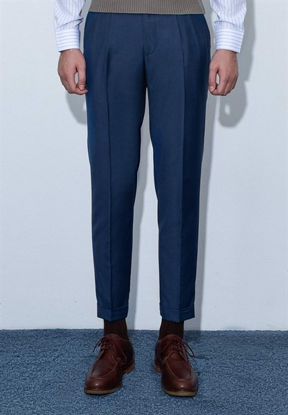 Dark aegean blue trousers