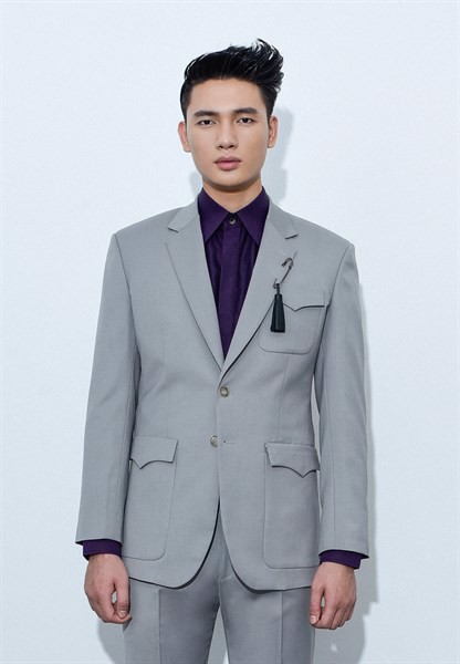 Coin gray blazer