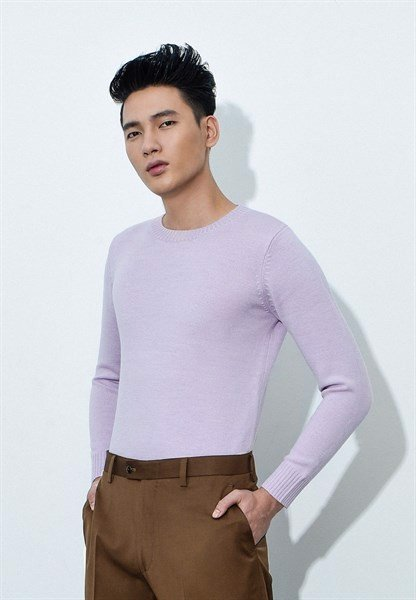 Periwinkle round neck long sleeve jumper