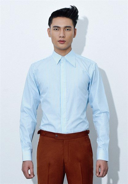 Cyan stripe shirt