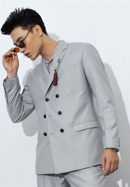 Cloud gray blazer