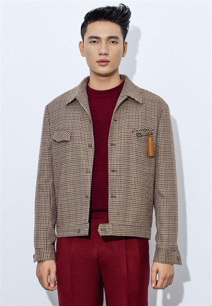 Hounds-tooth brown jacket