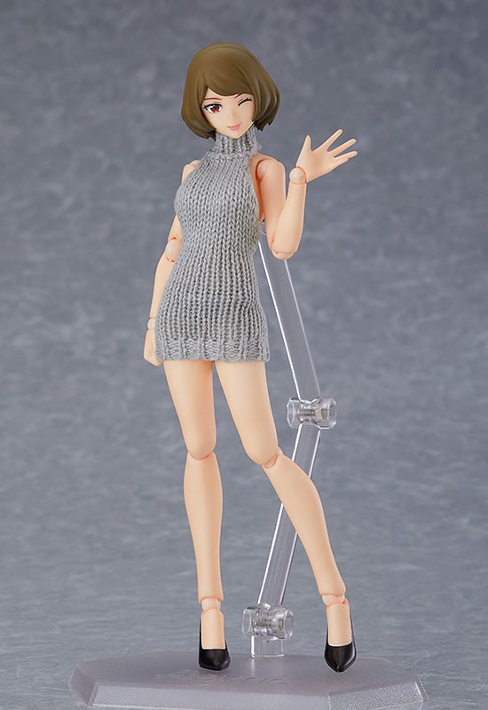 figma Styles Female body (Chiaki) with Backless Sweater Coordination