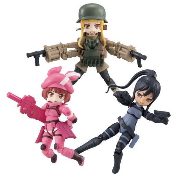 Desktop Army Sword Art Online Alternative Gun Gale Online 3Pack BOX