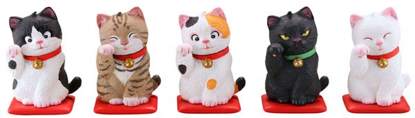 miniQ Miniature Cube Sato Kunio's Shoufuku Cat 8Pack BOX