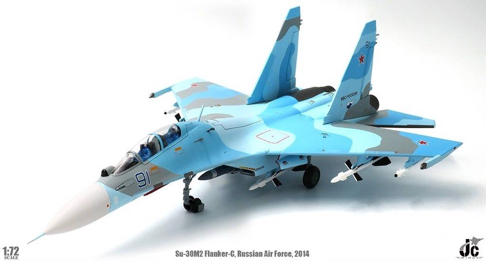 Mô Hình Máy Bay Russian Air Force Sukhoi Su-30M2 Flanker-C Blue 91 | JC Wings 1:72