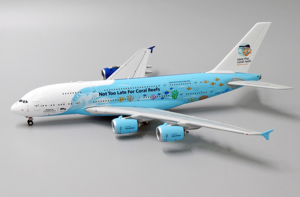 Mô Hình Máy Bay HiFly Airbus A380 9H-MIP Save The Coral Reefs | JC Wings 1:400