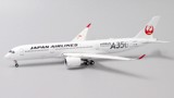 Mô Hình Máy Bay Japan Airlines Airbus A350-900 Flaps Down JA02XJ Siver Titles | JC Wings 1:400