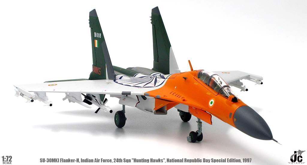 Mô Hình Máy Bay Indian Air Force Sukhoi Su-30MKI Flanker-H | JC Wings 1:72
