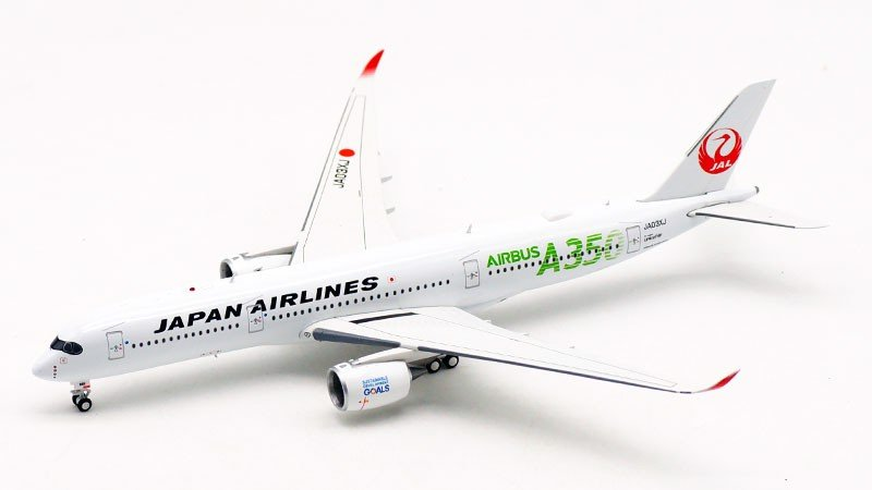Mô Hình Máy Bay Japan Airlines Airbus A350-900 JA03XJ Green Titles | Aviation 1:400