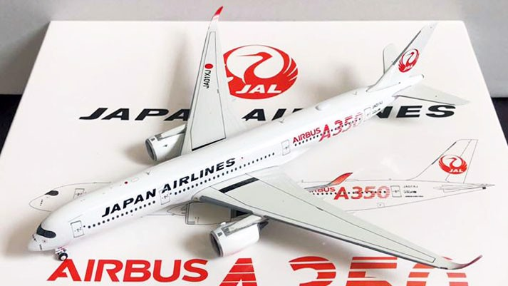 Mô Hình Máy Bay Japan Airlines Airbus A350-900 JA01XJ Red Titles | Aviation 1:400