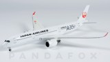 Mô Hình Máy Bay Japan Airlines Airbus A350-900 JA02XJ Siver Titles | JC Wings 1:400