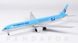 Mô Hình Máy Bay Korean Air Boeing 777-300ER Flaps Down HL8008 | JC Wings 1:400