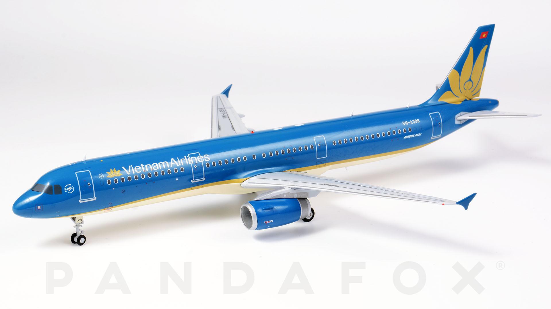 Mo Hinh May Bay Vietnam Airlines Airbus A321 Vn A398 Pandafox Toys Vietnam May Bay Mo Hinh Tĩnh