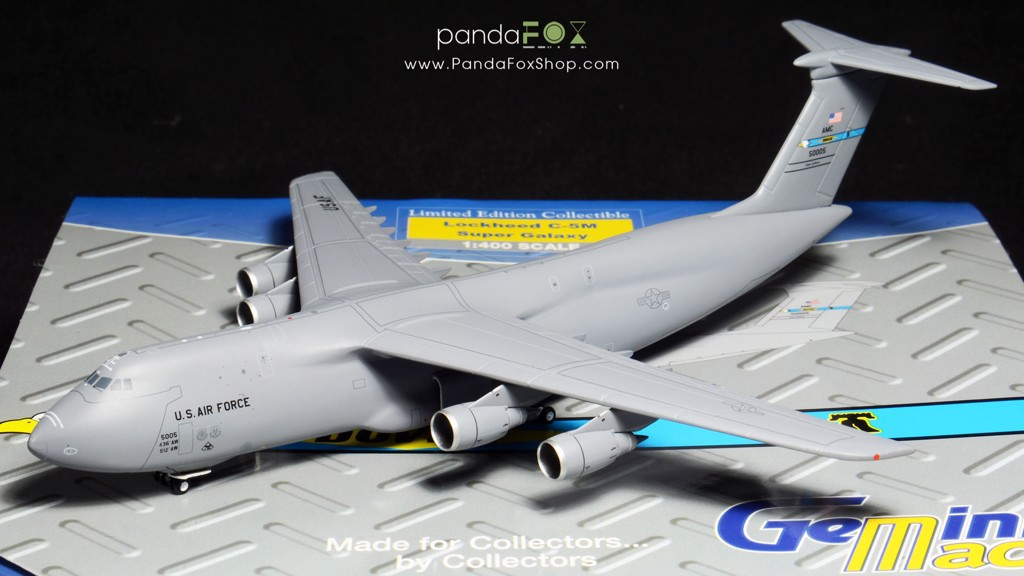Mô Hình Máy Bay United States Air Force Lockheed C-5M 50005 Dover AFB | GeminiJets 1:400