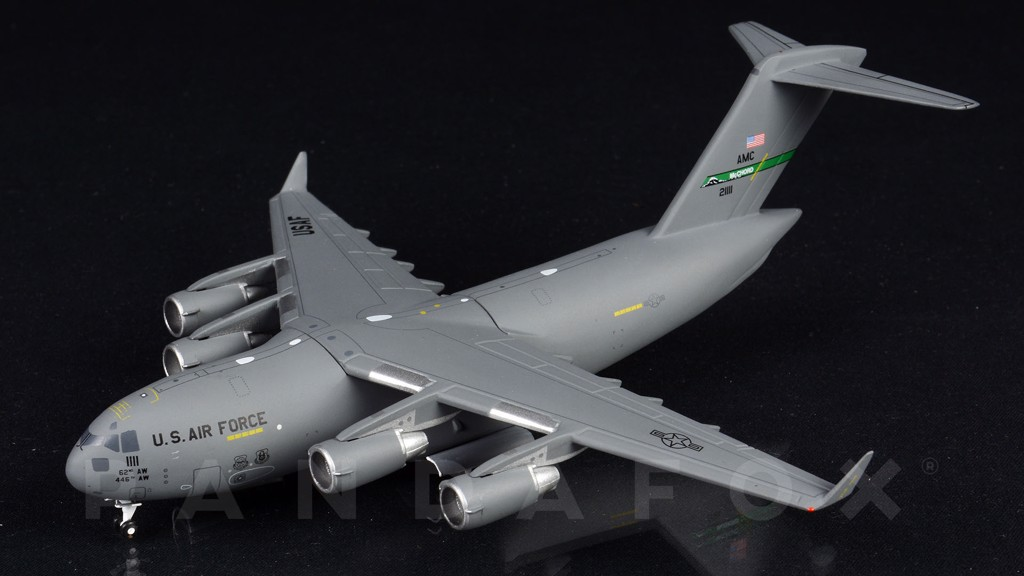 Mô Hình Máy Bay United States Air Force Boeing C-17 02-1111 McChord AFB | GeminiJets 1:400