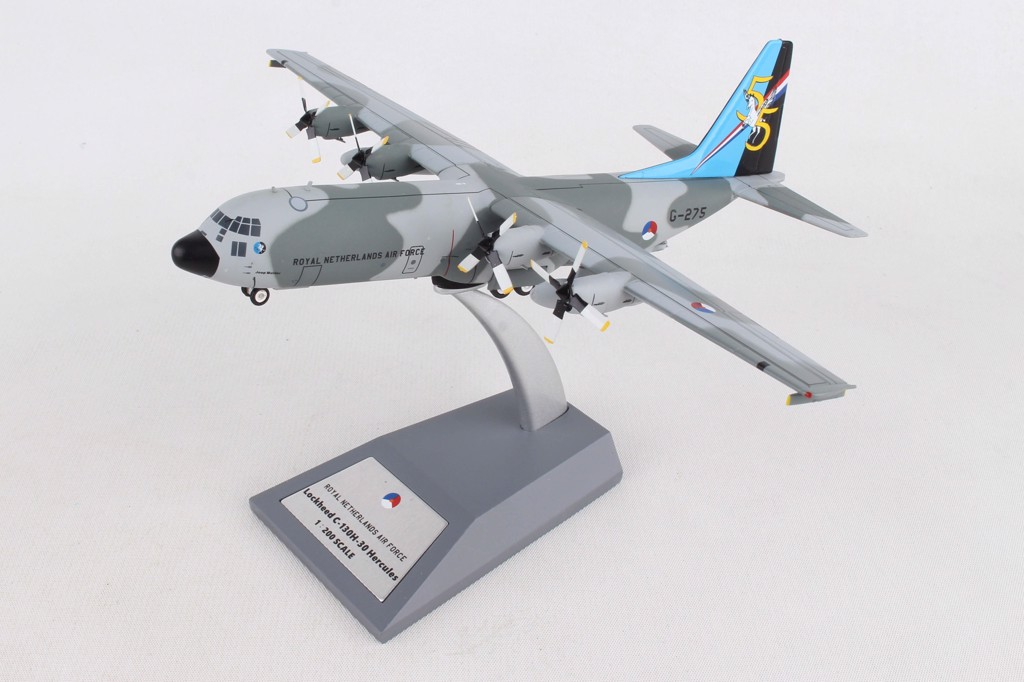 Mô Hình Máy Bay Netherlands Air Force Lockheed C-130H G-275 | InFlight 1:200