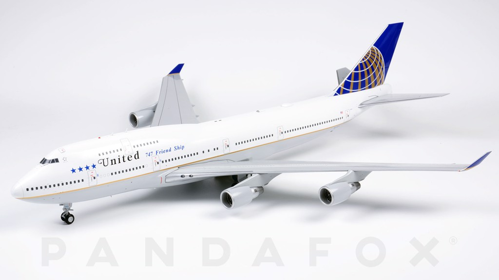 Mô Hình Máy Bay United Boeing 747-400 N121UA Friendship | JC Wings 1:200