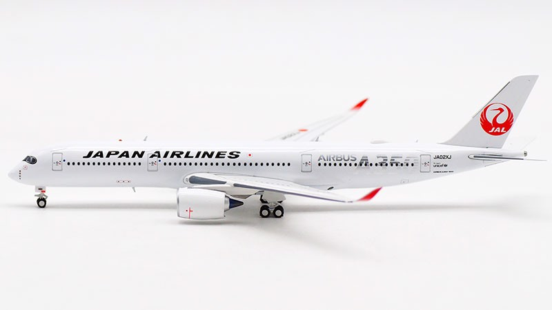 Mô Hình Máy Bay Japan Airlines Airbus A350-900 JA02XJ Siver Titles | Aviation 1:400