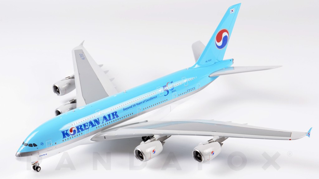 Mô Hình Máy Bay Korean Air Airbus A380 HL7612 50 Years of Excellence | Phoenix 1:400