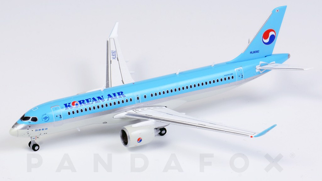 Mô Hình Máy Bay Korean Air Airbus A220-300 HL8092 | JC Wings 1:400